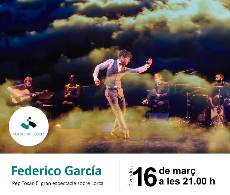 'Federico García' de Pep Tosar, aquest divendres 16 de març al Teatre de Lloret