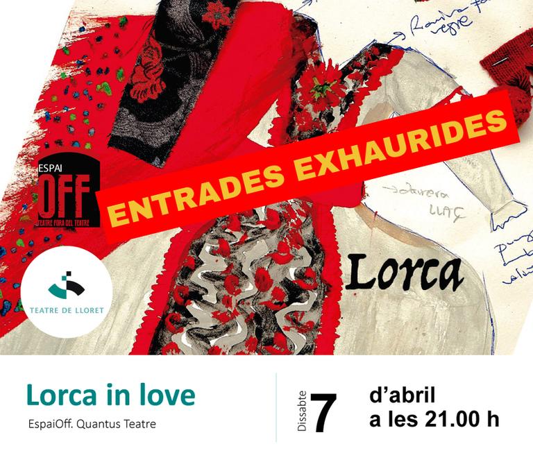 """""""Lorca in love"""", de Quantus Teatre, arriba aquest dissabte amb totes les entrades exhaurides"""
