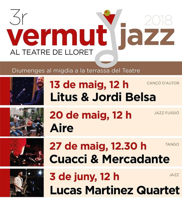 3r Cicle de Vermut Jazz a la terrassa del Teatre de Lloret