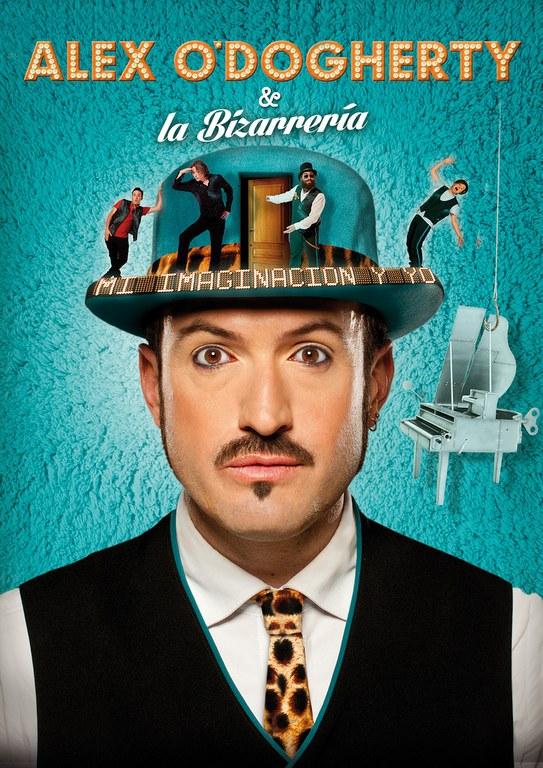 Alex O'Dogherty & La Bizarrería presenten aquest dissabte 2 d'abril al Teatre de Lloret 'Mi imaginación y yo'.