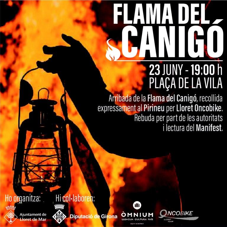 Arribada de la Flama del Canigó a Lloret
