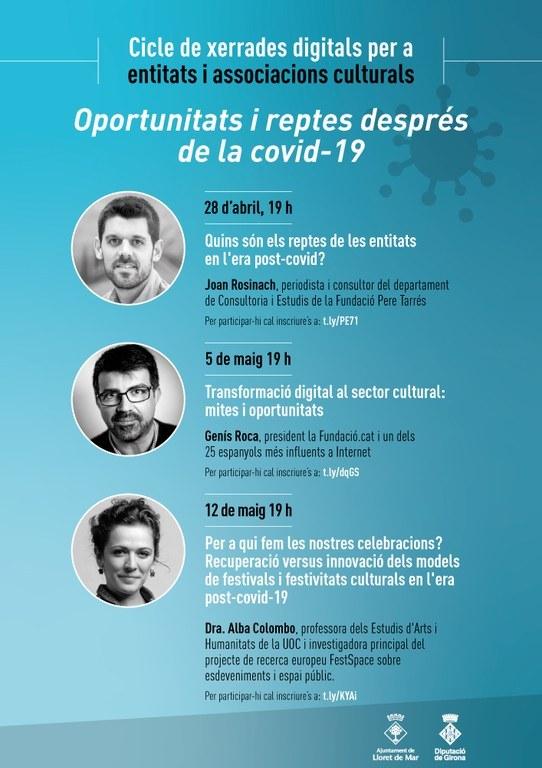Cicle de xerrades digitals per a entitats i associacions culturals a Lloret de Mar