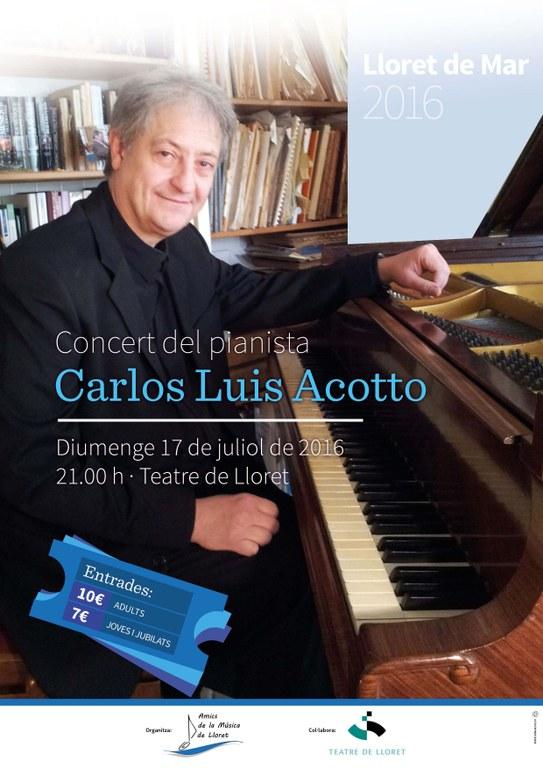Concert del pianista Carlos Acotto al Teatre de Lloret