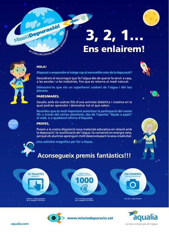 Dues nenes de Lloret de Mar, finalistes del XV Concurs Internacional Digital Infantil d'Aqualia
