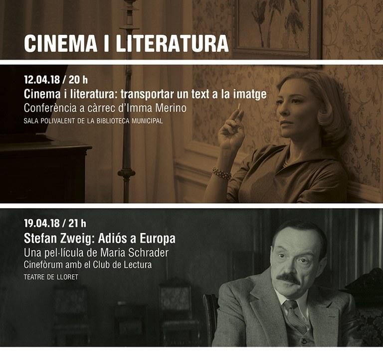 El cineclub Adler de Lloret organitza un cicle de cinema i literatura