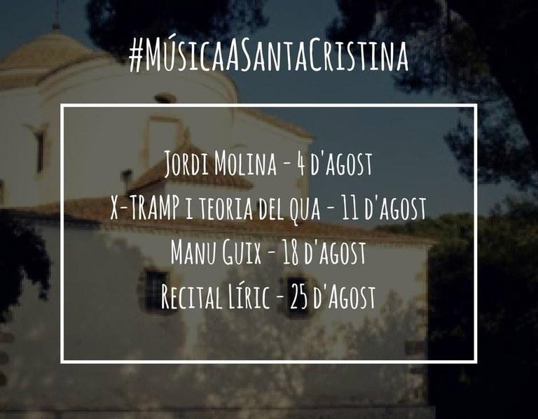 El músic Jordi Molina obre el proper divendres 4 d'agost un nou cicle de concerts d'estiu a Santa Cristina