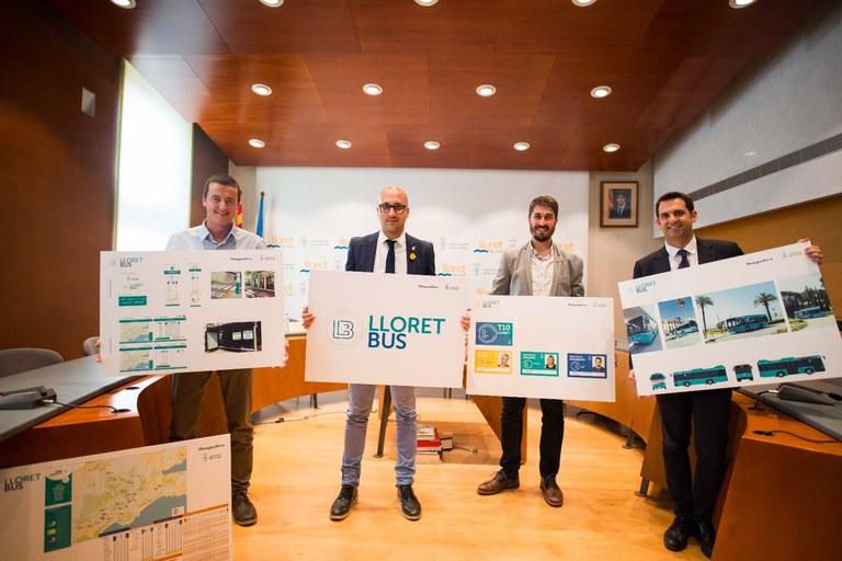 El proper 1 de maig s'estrena a Lloret de Mar el nou servei de transport urbà, LloretBus.