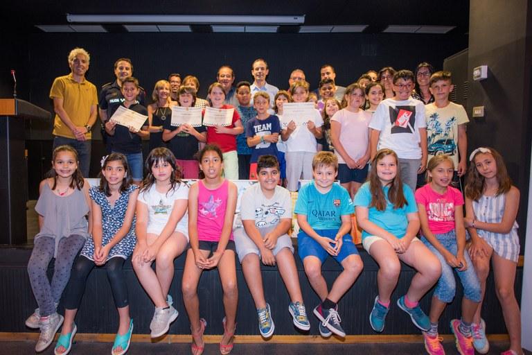 Els alumnes de 4t de primària de les escoles de LLoret participen al XIV Concurs de Dibuix d'Educació Viària