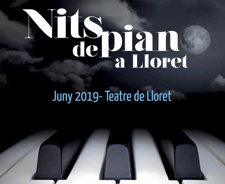 Els Amics de la Música de Lloret organitzen un cicle de concerts de piano aquest mes de juny
