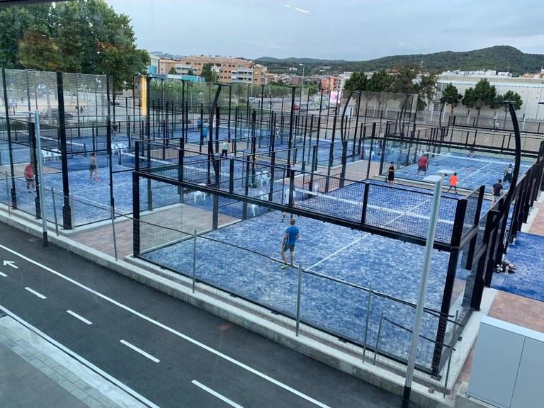 Entra en funcionament l'àrea de raqueta de la zona esportiva de Lloret de Mar