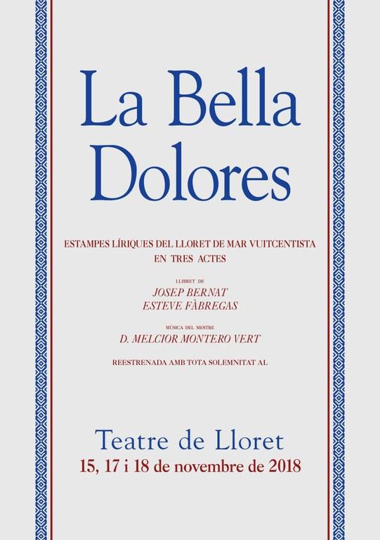 Estrena de 'La Bella Dolores' al Teatre de Lloret per Sant Romà