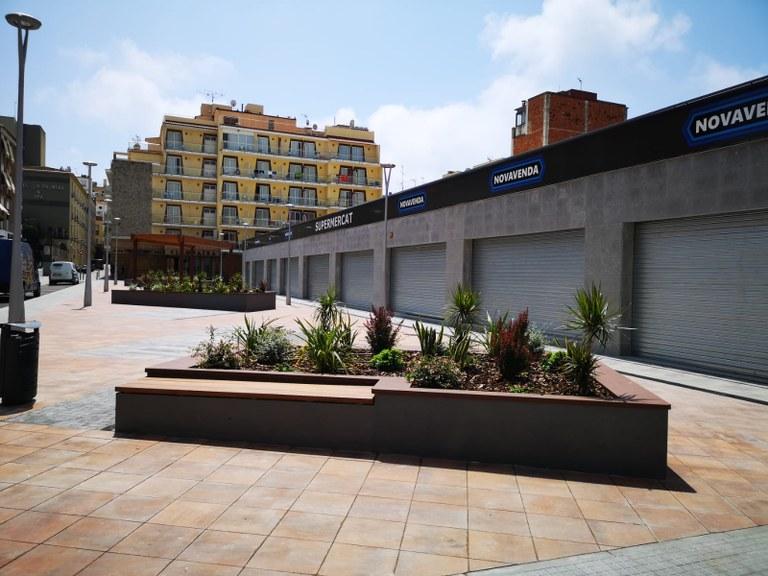 Finalitzen les obres de la plaça situada a la finca Blanca Aurora