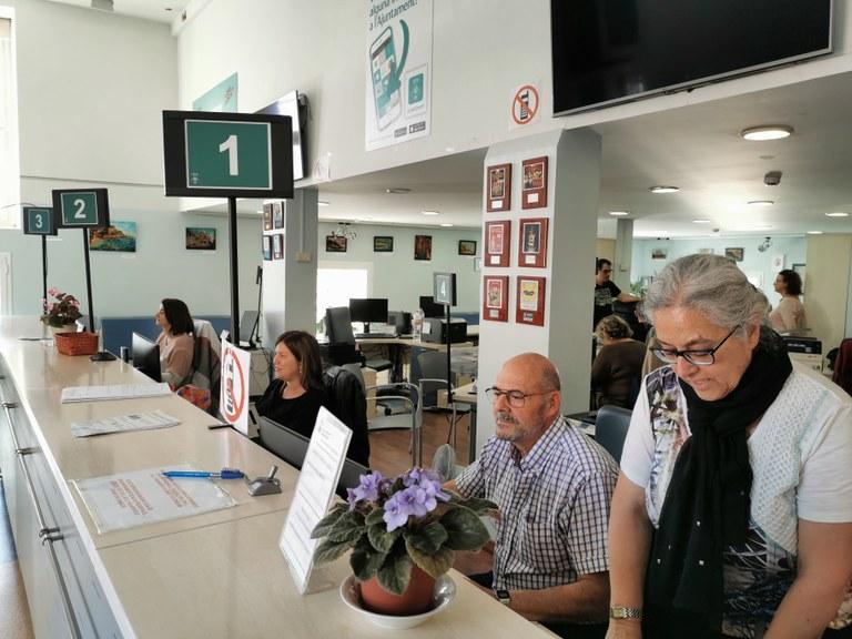 L'Ajuntament de Lloret de Mar recupera els tràmits presencials a l'Oficina d'Informació Ciutadana