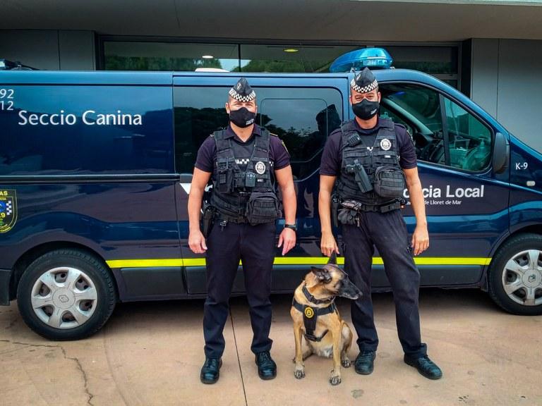 L'Ajuntament de Lloret incorpora oficialment dins de la Unitat Canina les gosses Maya, Mia i Luna