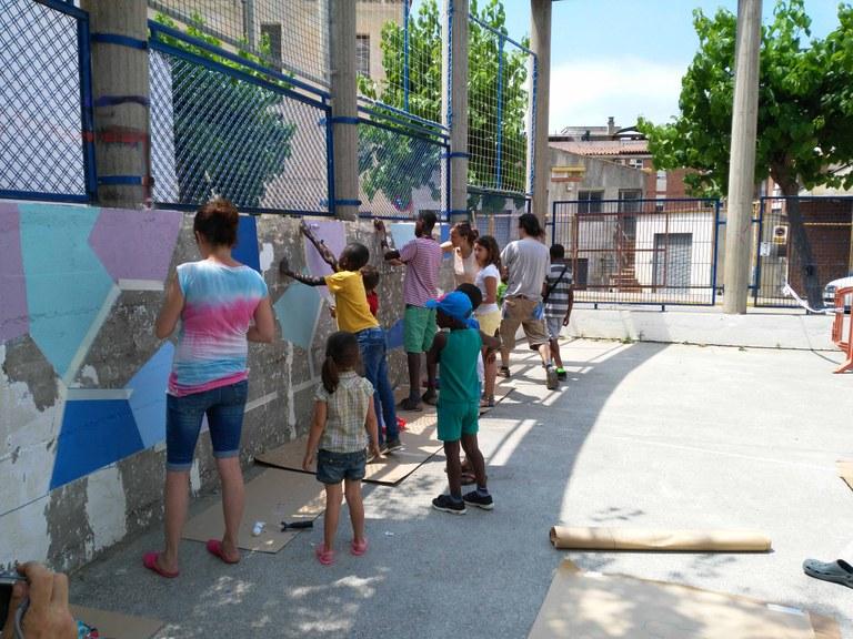 L'Ajuntament de Lloret organitza la pintada comunitària d'un mural