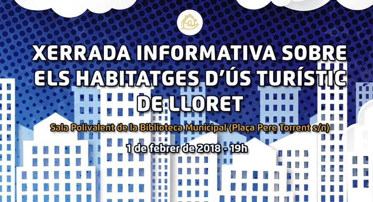 L'Ajuntament de Lloret organitza una xerrada informativa sobre la nova ordenança d'Habitatges d'Ús Turístic