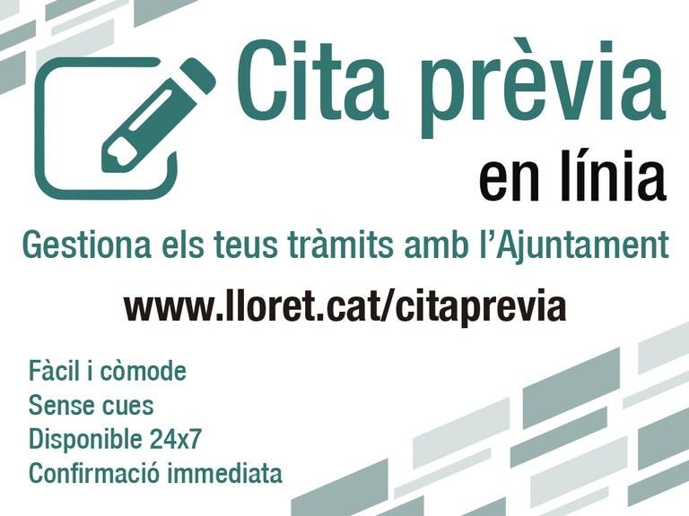 L'Ajuntament de Lloret posa en marxa el nou servei de cita prèvia per reduir cues i temps d'espera en les gestions de la ciutadania