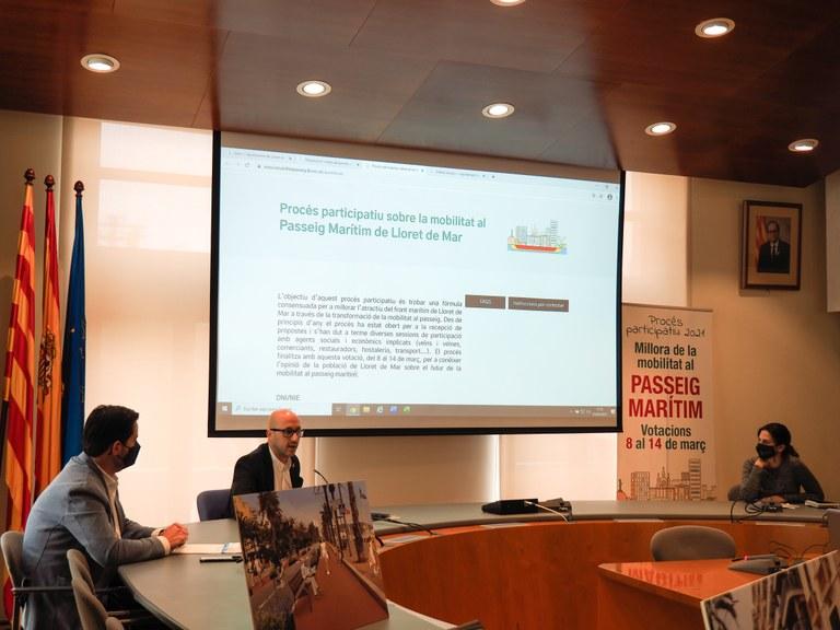 L'Ajuntament de Lloret presenta a votació les propostes per millorar la mobilitat al passeig marítim