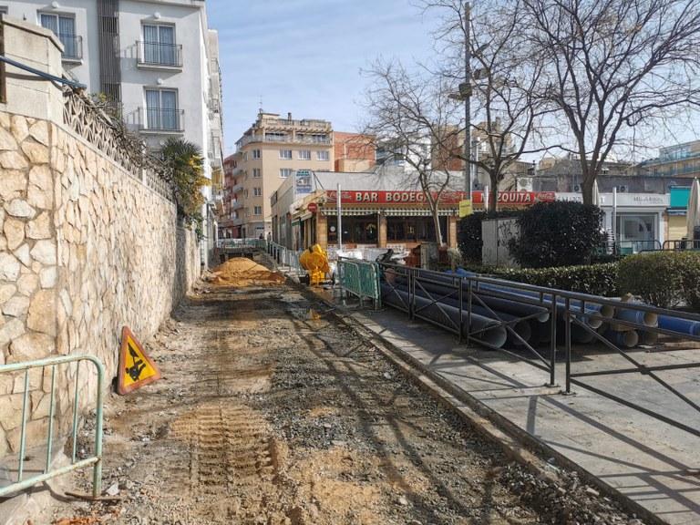 L'Ajuntament de Lloret realitza obres al C/Oliva entre Sènia del Rabich i C/Sant Pere