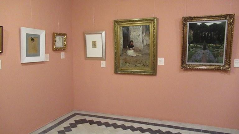 L'Ajuntament de Lloret recupera les visites guiades a l'exposició de pintura del fons de la col·lecció de la Galeria Elysium