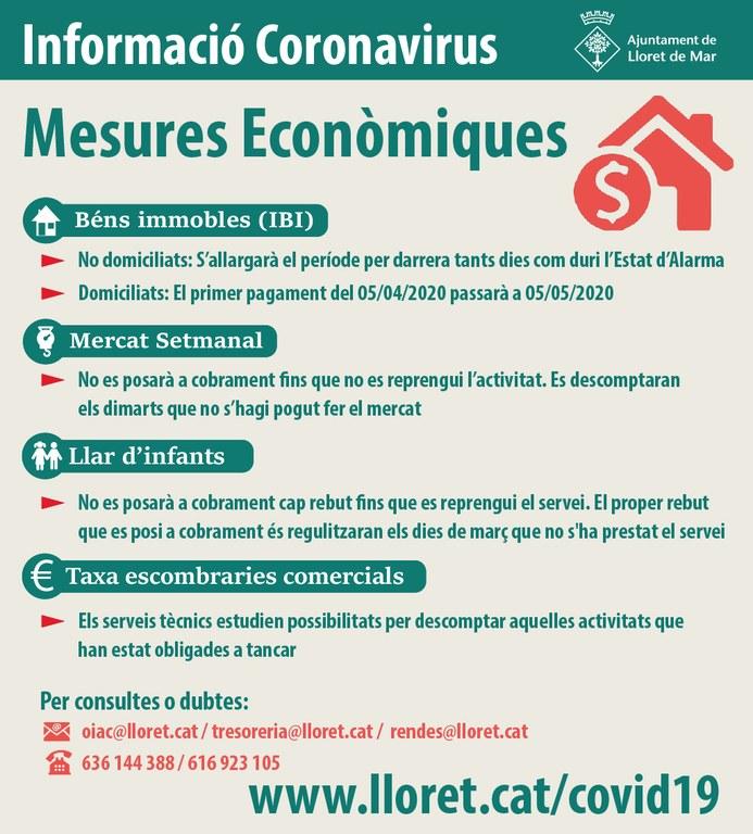 L'Ajuntament de Lloret treballa un pla de mesures econòmiques per l'emergència sanitària del coronavirus (COVID19)