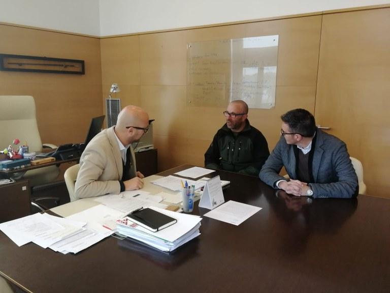 L'alcalde de Lloret rep a la Fundació Aspronis