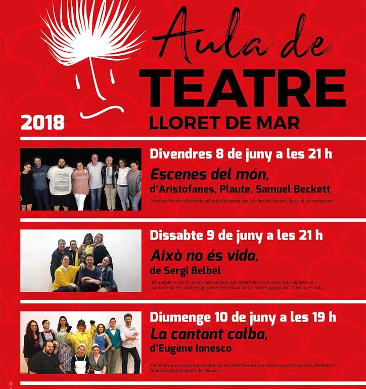 L'Aula Municipal de Teatre d'adults fa les representacions de final de curs aquest cap de setmana