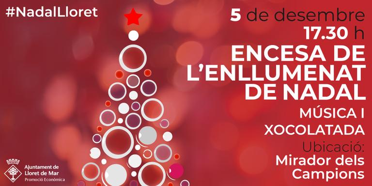 L'encesa de llum a Lloret serà el proper 5 de desembre