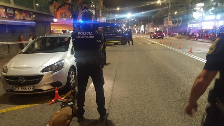 La Policia Local de Lloret intensifica les seves actuacions durant la Festa Major de Santa Cristina