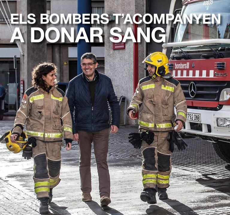 """Lloret acull la campanya """"Els Bombers t'acompanyen a donar sang"""""""