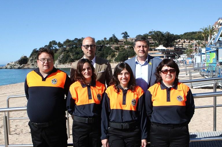 Lloret contracta quatre informadors cívics a través del programa 'Enfeina't' del Servei d'Ocupació de Catalunya
