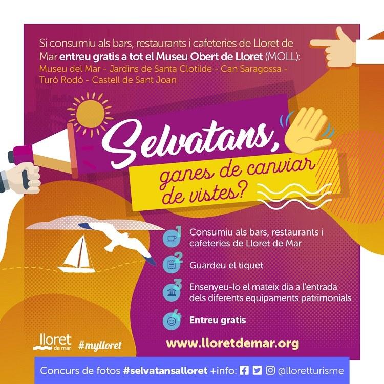 Lloret de Mar llança la campanya 'Selvatans, ganes de canviar de vistes?' per atreure als visitants de la comarca