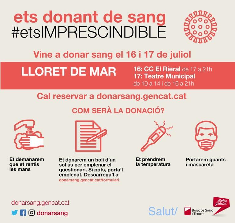 Lloret de Mar mostra la seva solidaritat amb la donació de sang amb una nova campanya especial