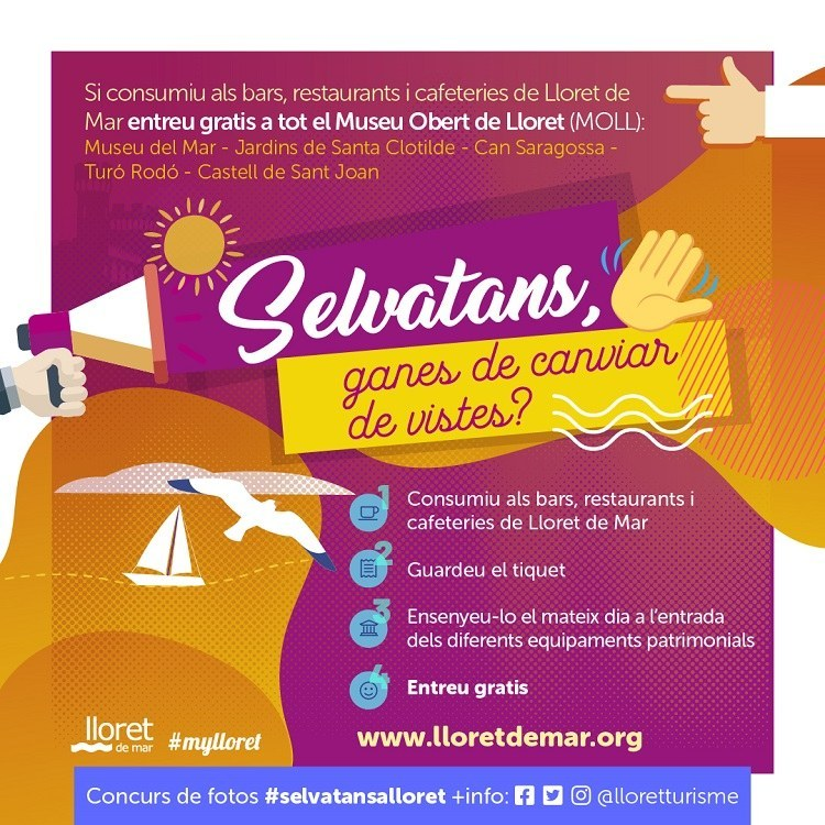 Lloret de Mar torna a activar la campanya 'Selvatans, ganes de canviar de vistes?' per atreure als visitants de la comarca