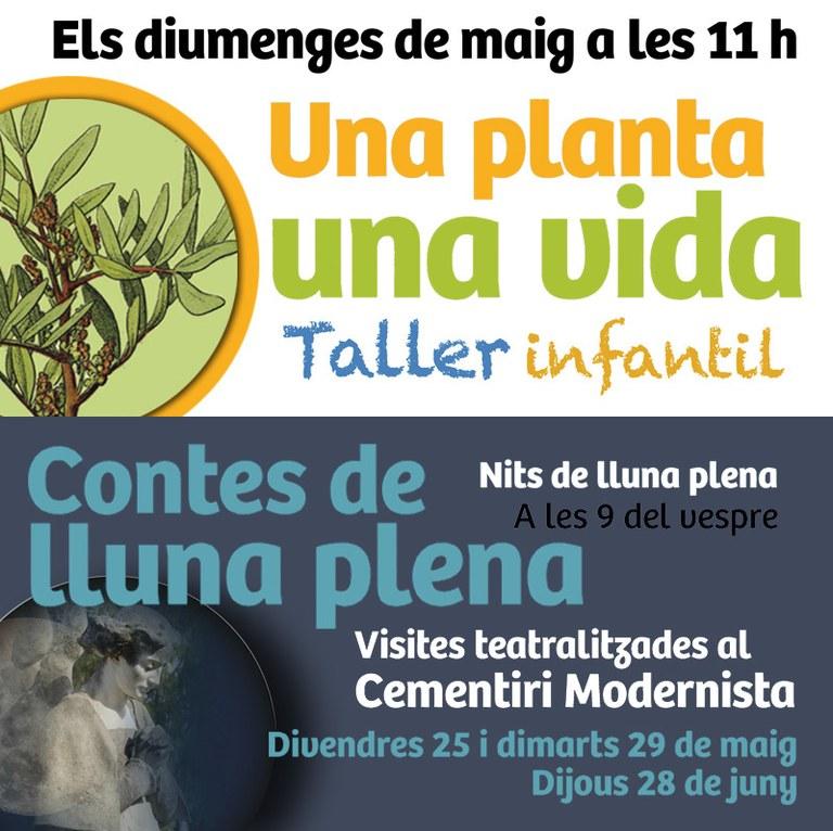 Lloret estrena dues noves visites aquest mes de maig als Jardins de Santa Clotilde i al Cementiri Modernista