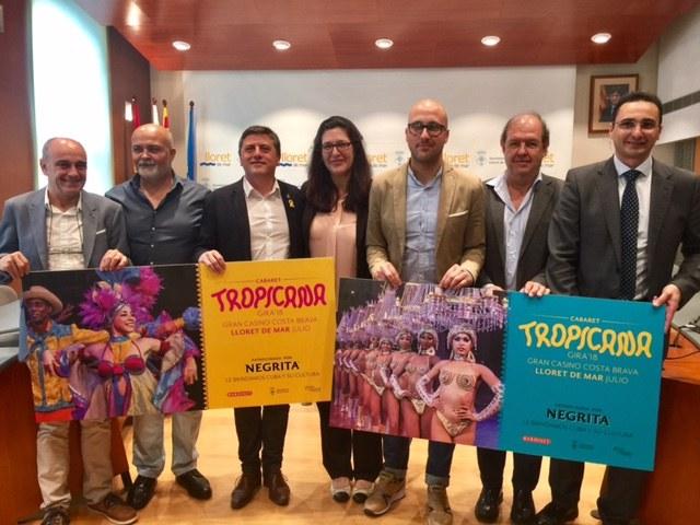 Lloret presenta la gira del Cabaret Tropicana, que tindrà lloc al Gran Casino Costa Brava de Lloret de Mar el mes de juliol de 2018
