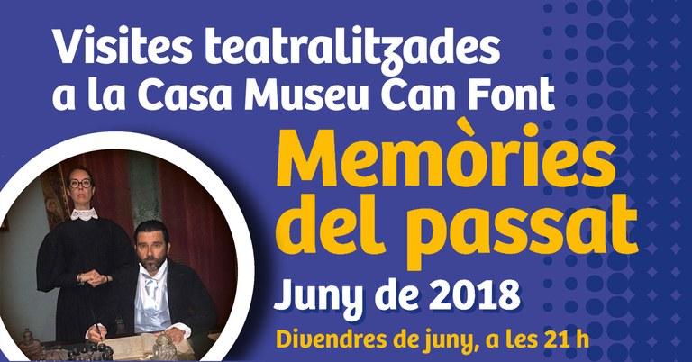 Lloret recupera, els divendres i dissabtes de juny, una visita teatralitzada a la Casa Museu de Can Font