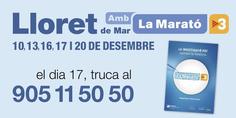 Lloret se suma a La Marató de TV3 amb diverses activitats