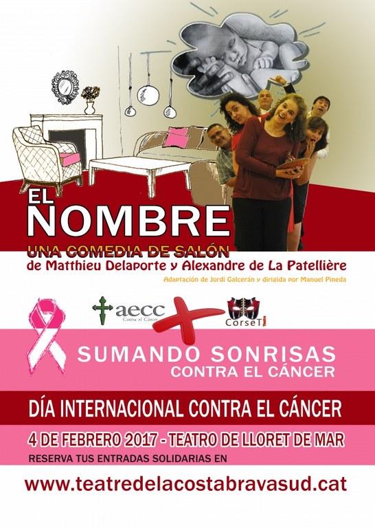 Representació benèfica contra el càncer de l'espectacle teatral El Nombre, al Teatre de Lloret