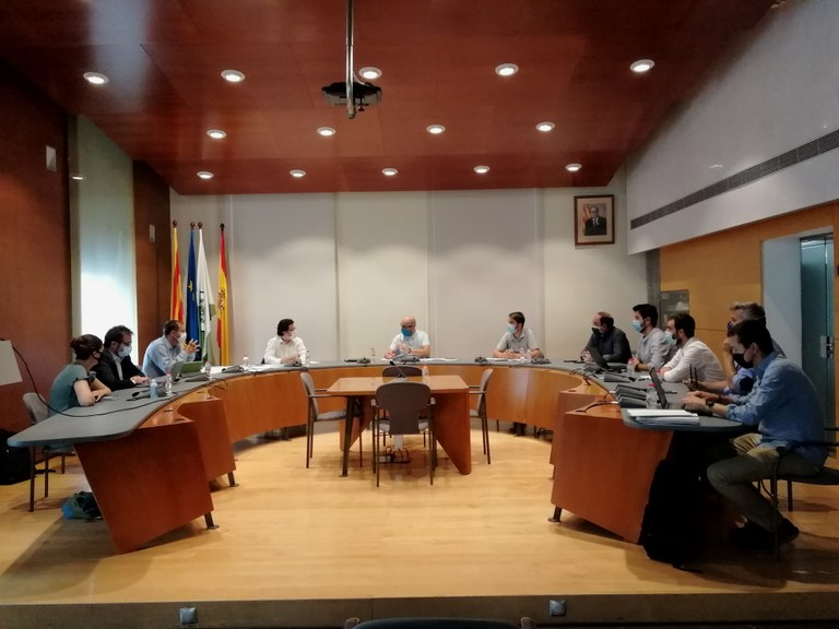 Reunió entre la Generalitat i l'Ajuntament de Lloret per fer seguiment dels projectes en infraestructures