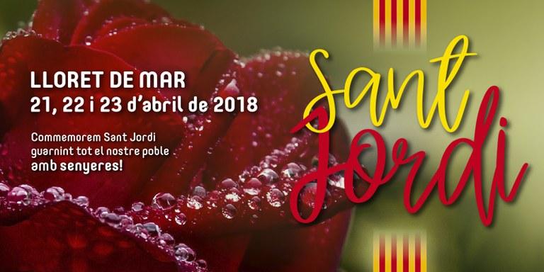 Revetlla de Sant Jordi i Sant Jordi a Lloret de Mar