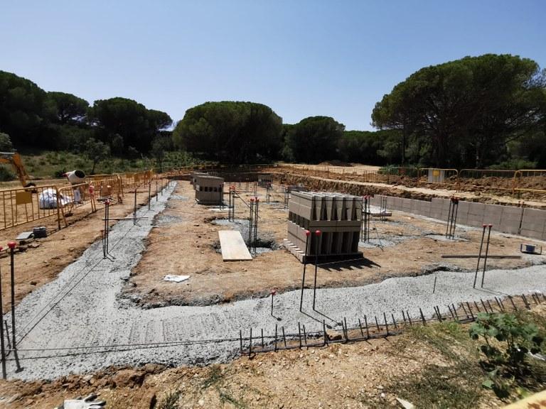 S'inicien els treballs de fonamentació del mòdul del nou institut de Lloret