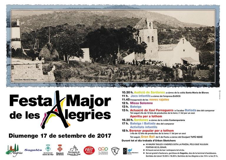 Tot a punt per a celebrar aquest diumenge 17 de setembre la Festa Major de les Alegries
