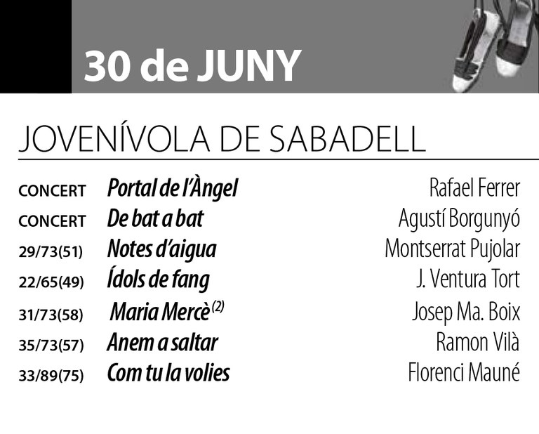 Sardanes d'estiu - Cobla Jovenívola de Sabadell