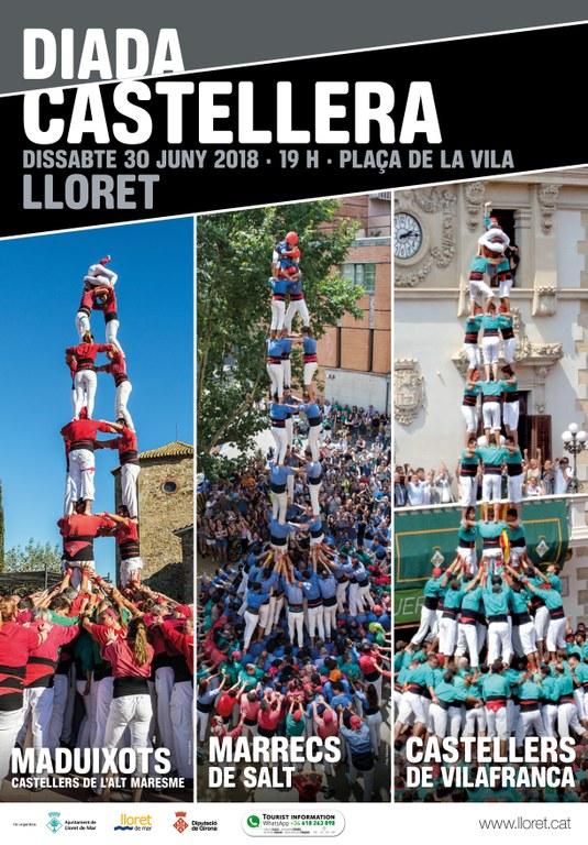 Diada Castellera amb Castellers de Vilafranca, Marrecs de Salt i Maduixots de l'Alt Maresme