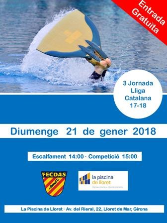 3 Jornada Lliga Catalana de natació amb aletes