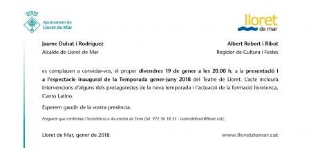 Presentació de la nova temporada del Teatre de Lloret