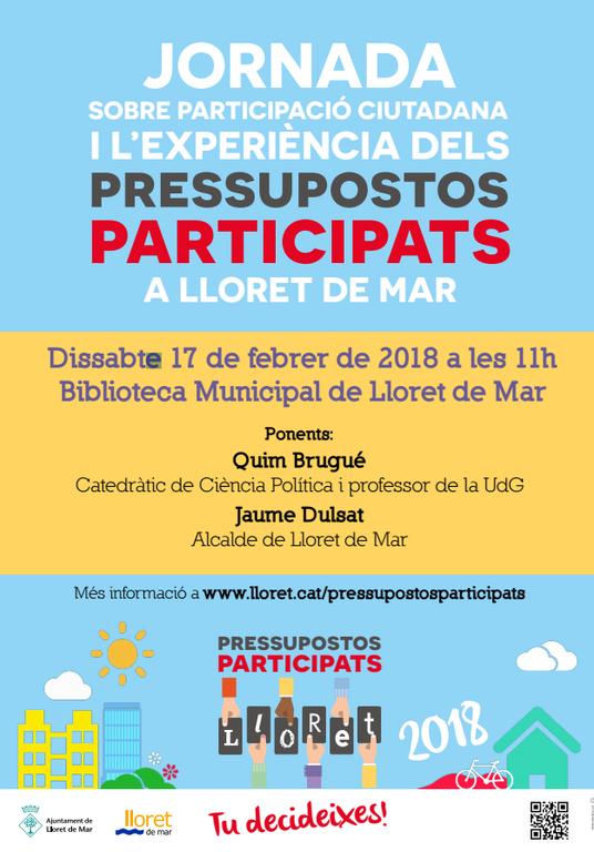 Jornada sobre Participació Ciutadana i l'experiència dels Pressupostos Participats