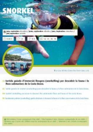 Sortida guiada d´immersió lleugera 'snorkelling'
