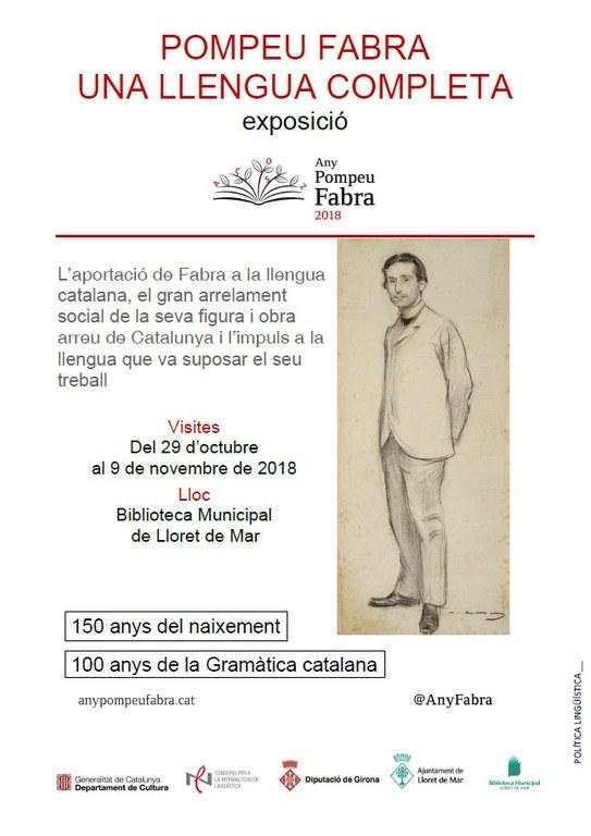 Exposició 'Pompeu Fabra. Una llengua completa'